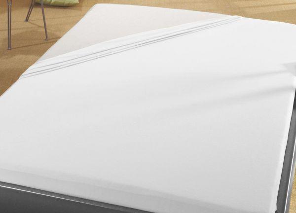 Jersey Spann Betttuch 180x200 cm  bis  200x200 cm für Matratzengröße  100% Baumwolle  weiss