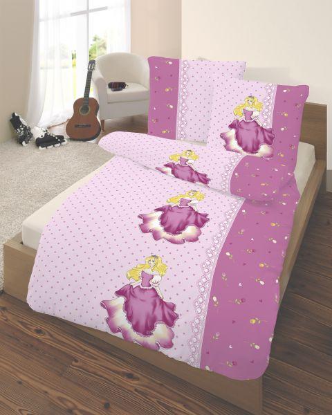 ido Biber Bettwäsche 2tlg. 135/200 cm Prinzessin pink