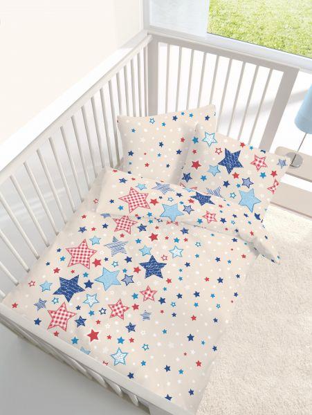 tr umsch n biber baby bettw sche 100 135 cm sterne beige blau 100 135 baby kinder u jugend. Black Bedroom Furniture Sets. Home Design Ideas