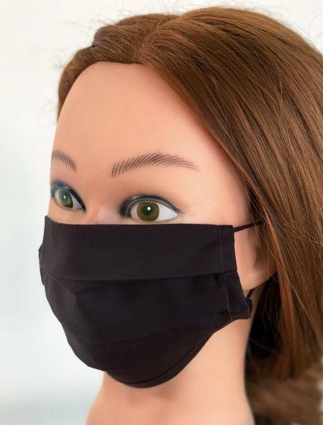 BW Mund-Nasen-Maske   schwarz   ST   1er Pack mit Ohrgummi