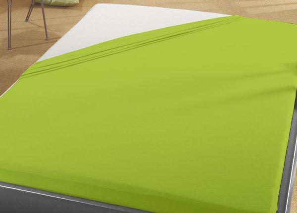 Jersey Spann Betttuch  90x200 cm bis 100x200 cm für Matratzengröße  100% Baumwolle  grün